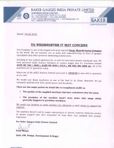 Baker Guages India Pvt Ltd -001